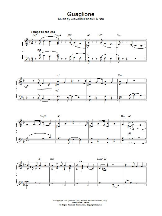 Guaglione Sheet Music