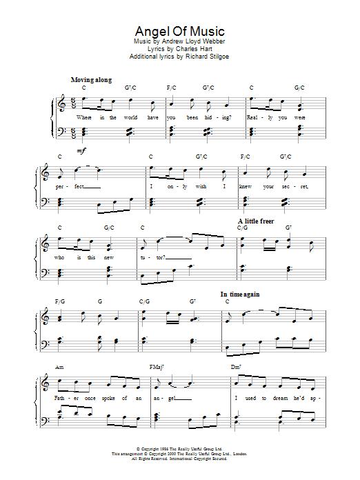 Angel Of Music (from The Phantom Of The Opera) Sheet Music