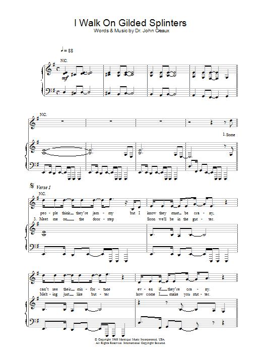I Walk On Gilded Splinters (Piano, Vocal & Guitar)