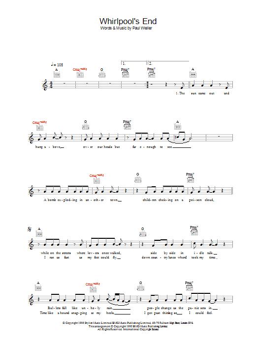 Whirlpool's End Sheet Music
