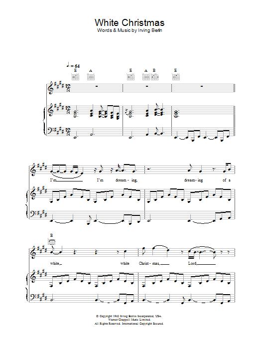 White Christmas Piano Sheet Music.White Christmas By Otis Redding Piano Vocal Guitar Digital Sheet Music