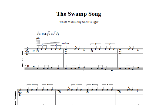 The Swamp Song Sheet Music