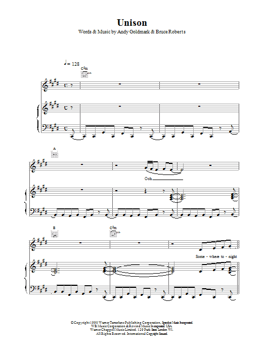 Unison Sheet Music