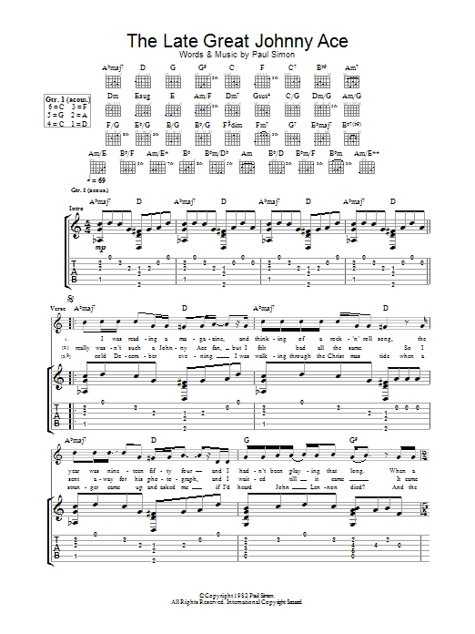 The Late Great Johnny Ace (Guitar Tab)