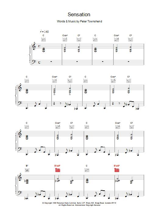 Sensation Sheet Music