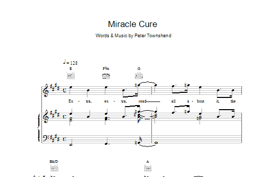 Miracle Cure Sheet Music