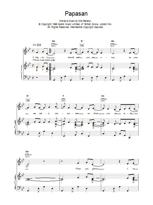 Papasan Sheet Music