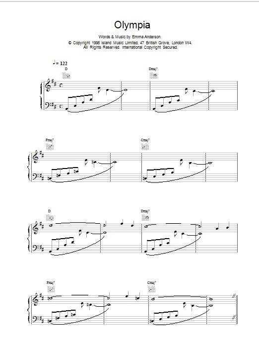 Olympia Sheet Music