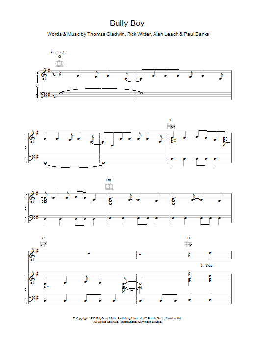 Bully Boy Sheet Music
