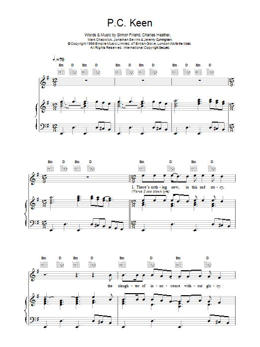 P.C. Keen Sheet Music