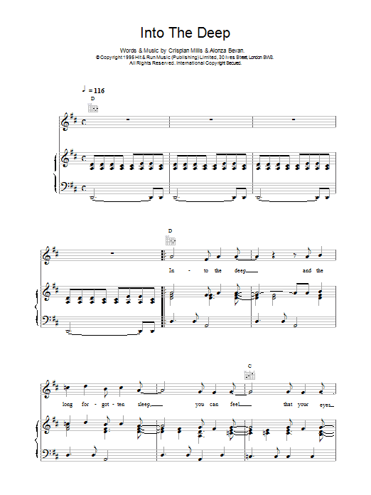 Into The Deep Sheet Music