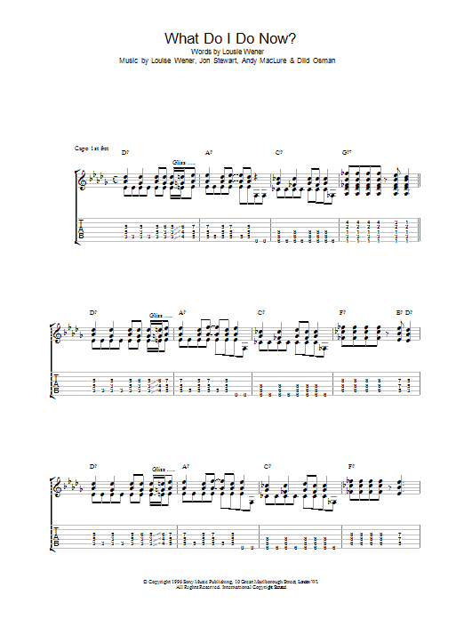 What Do I Do Now? Sheet Music