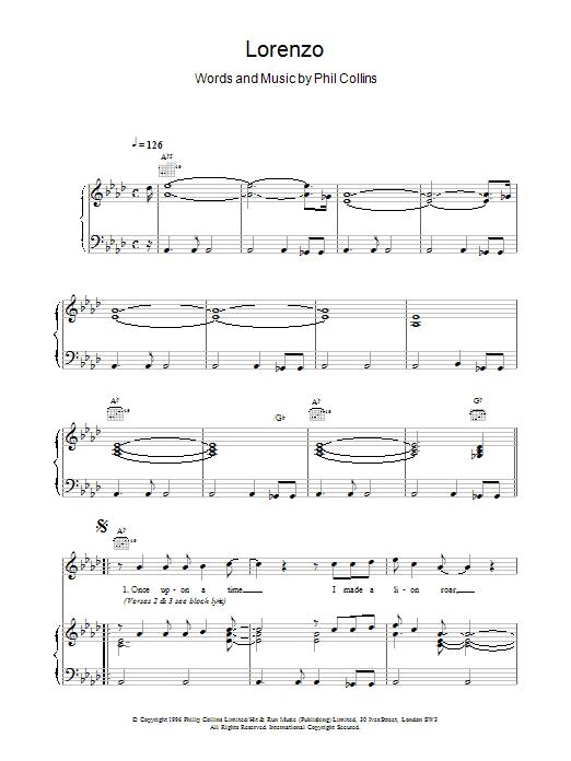 Lorenzo Sheet Music