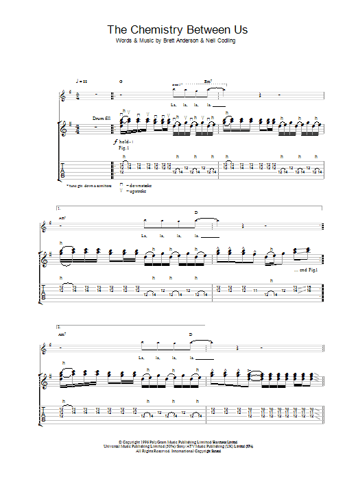 The Chemistry Between Us Sheet Music
