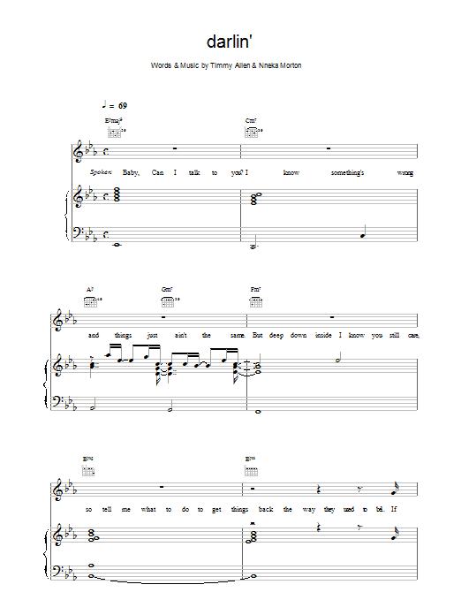 Darlin' Sheet Music