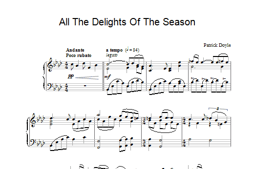 All The Delights Of The Season (from Sense And Sensibility) Sheet Music