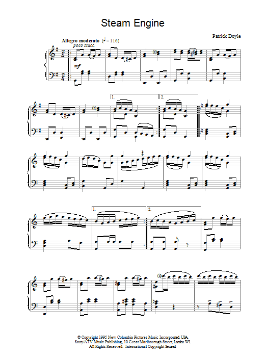 Steam Engine (from Sense And Sensibility) Sheet Music