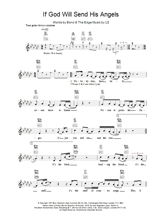 If God Will Send His Angels Sheet Music