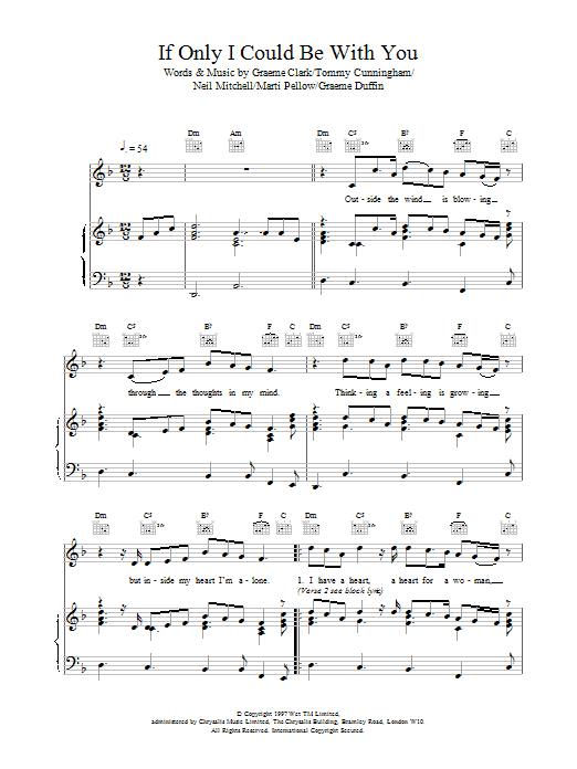 If Only I Could Be With You Sheet Music