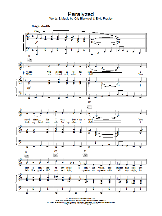 Paralyzed Sheet Music