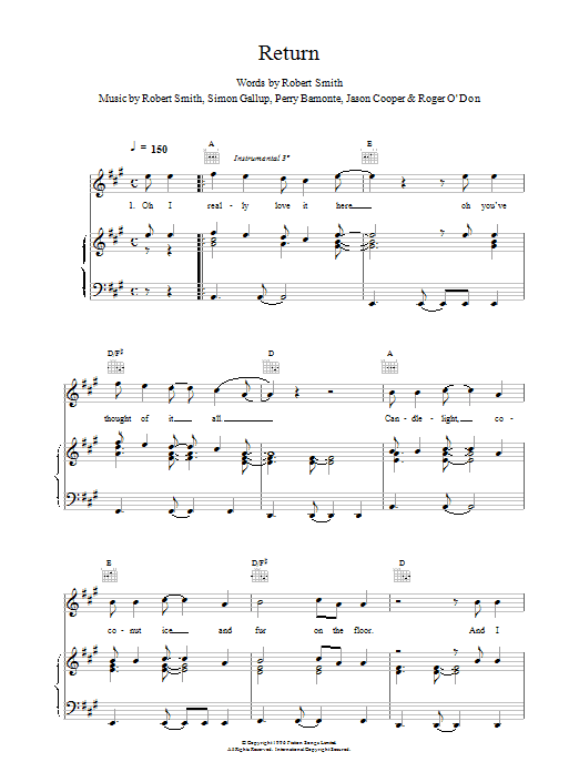 Return Sheet Music
