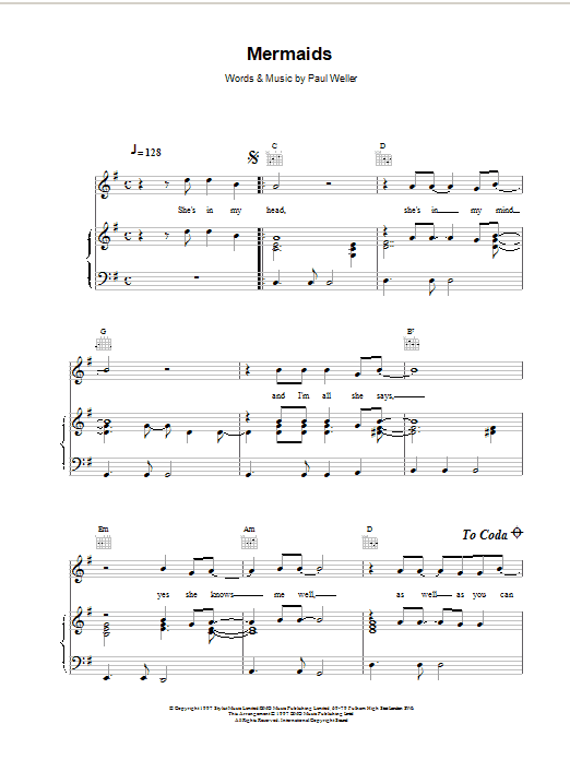 Mermaids Sheet Music