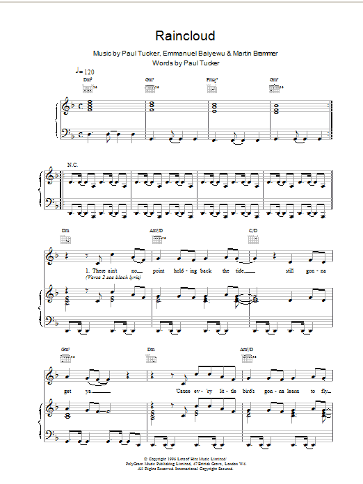 Raincloud Sheet Music