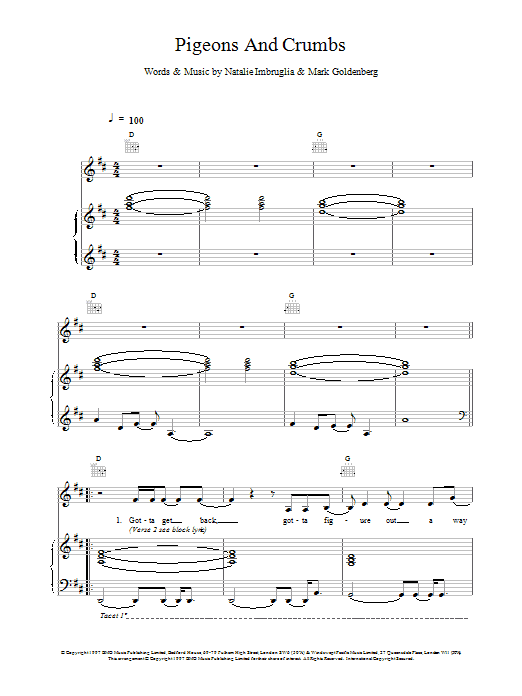 Pigeons And Crumbs Sheet Music