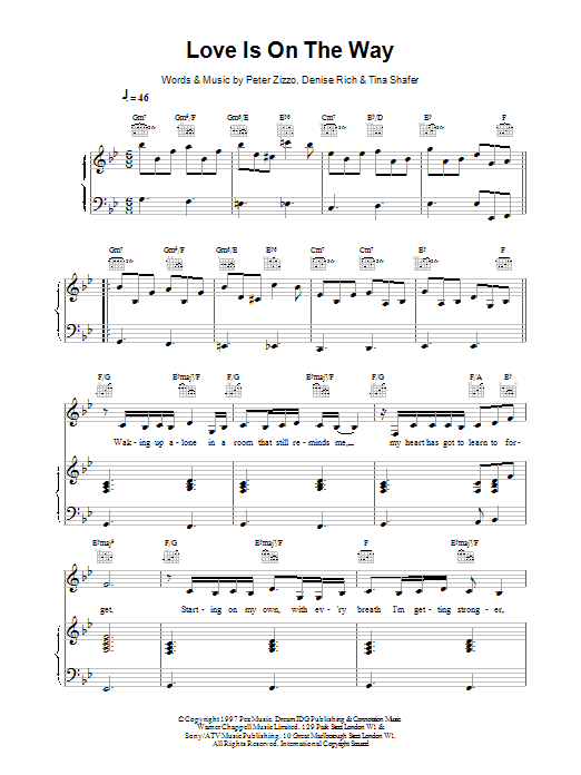 Love Is On The Way Sheet Music