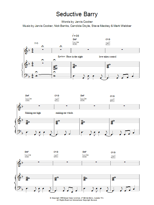 Seductive Barry Sheet Music