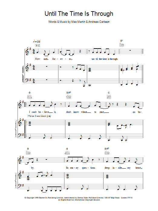 Until The Time Is Through Sheet Music