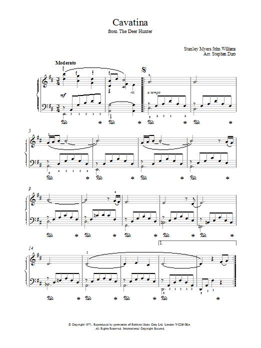 Cavatina From The Deer Hunter Sheet Music Direct