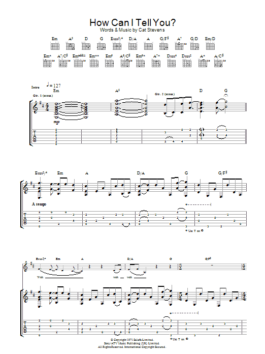 How Can I Tell You? (Guitar Tab)