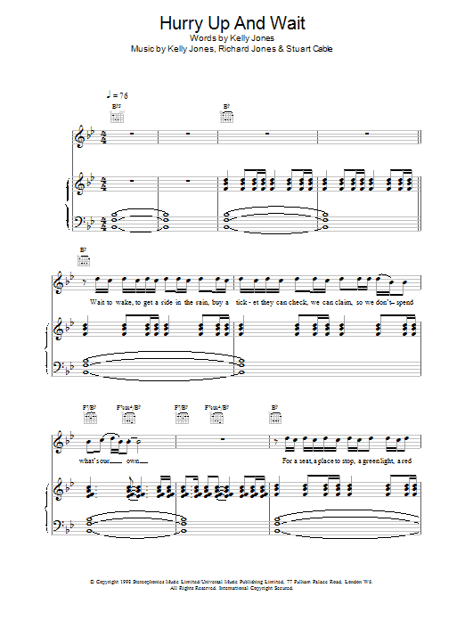 Hurry Up And Wait Sheet Music