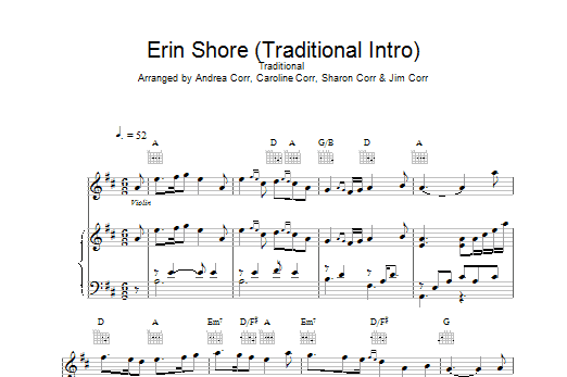 Erin Shore (Traditional Intro) Sheet Music
