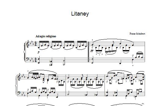 Litaney Sheet Music