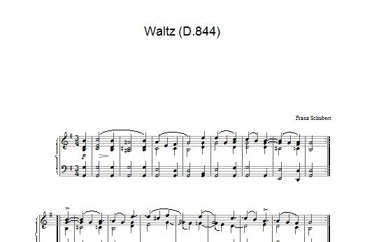 Waltz In G Major, D.844 Sheet Music
