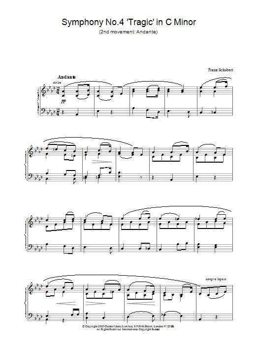 Symphony No.4 'Tragic' in C Minor - 2nd Movement: Andante (Piano Solo)