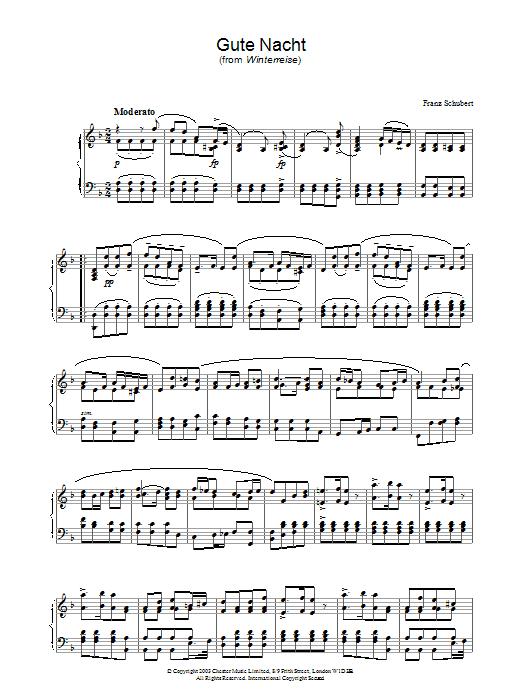Schubert Winterreise Piano Sheet Music - Best Music Sheet