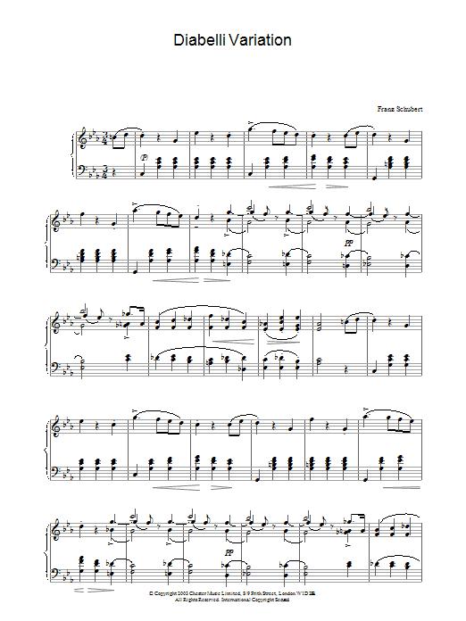 Diabelli Variation (Piano Solo)