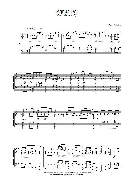 Agnus Dei (Piano Solo)