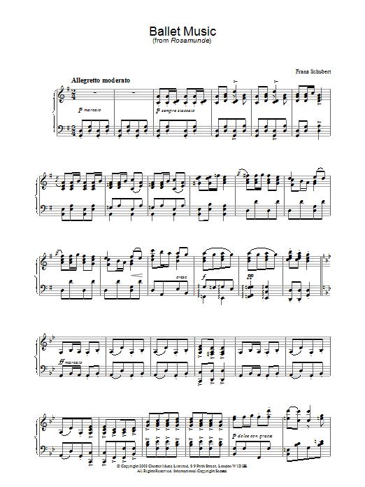 Ballet Music in G (from 'Rosamunde') Sheet Music