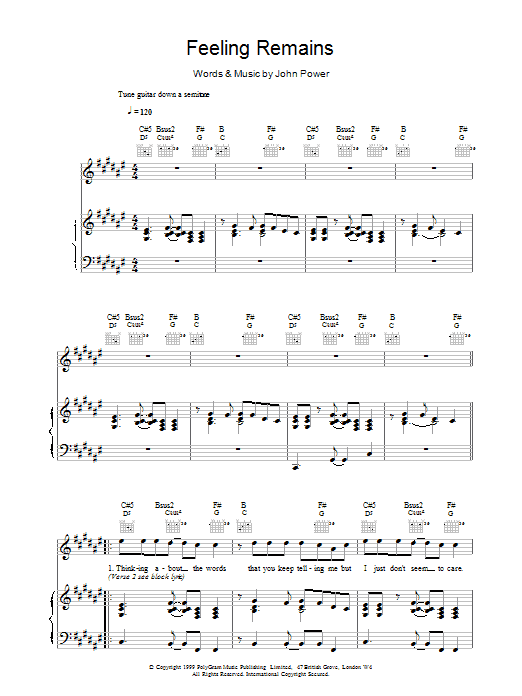 Feeling Remains Sheet Music