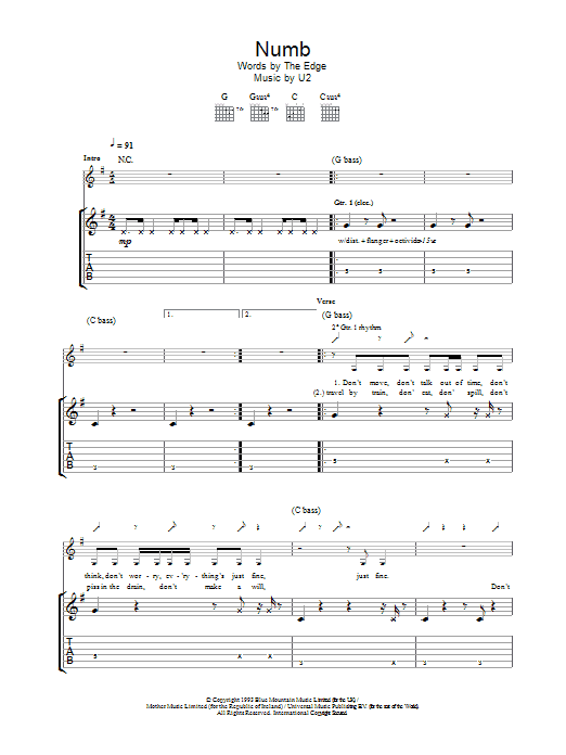 Numb Sheet Music