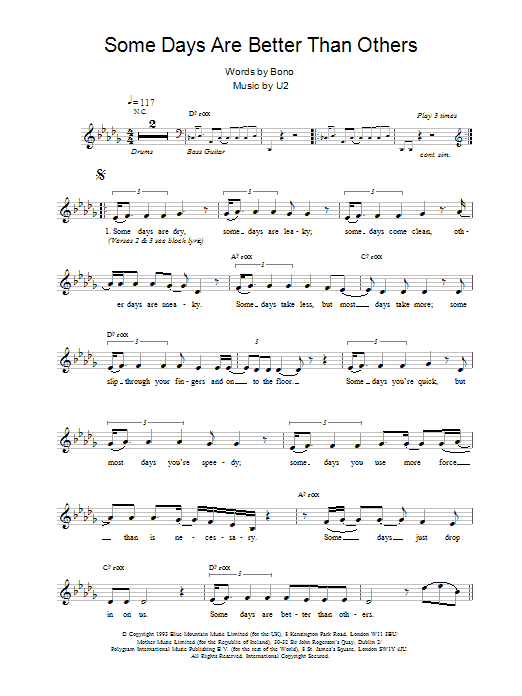 Some Days Are Better Than Others Sheet Music