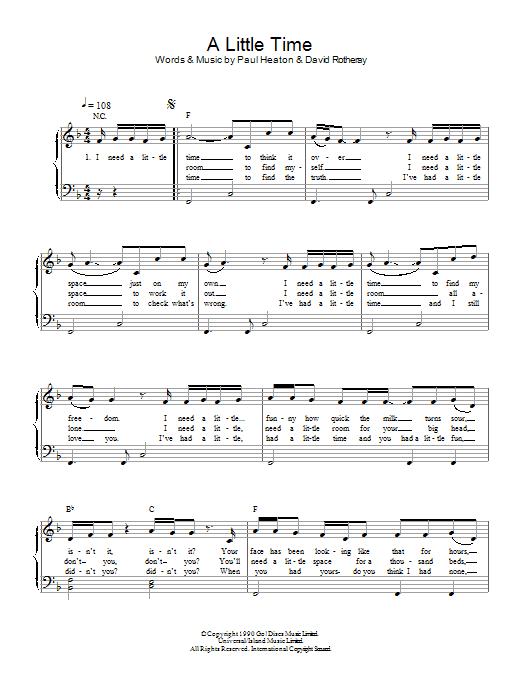 A Little Time Sheet Music