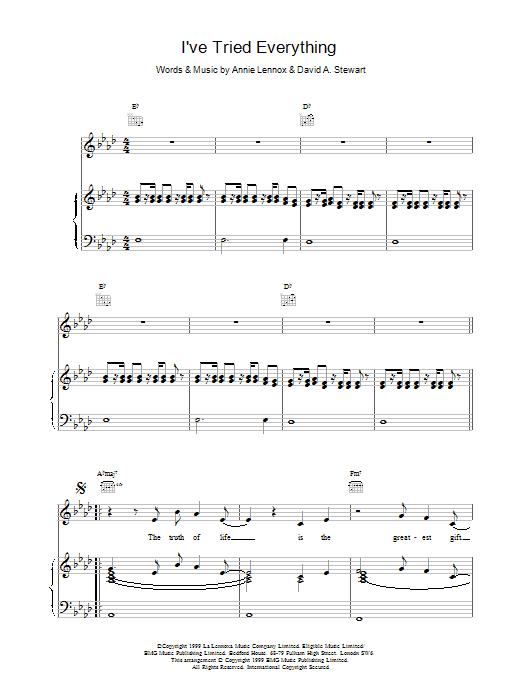 I've Tried Everything Sheet Music