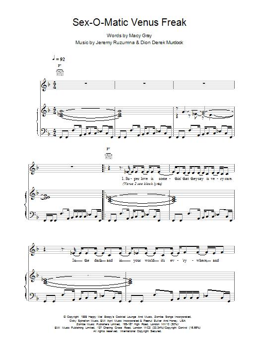Sexomatic Venus Freak Sheet Music