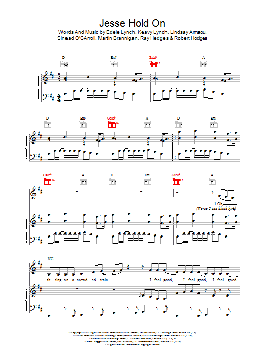 Jesse Hold On Sheet Music