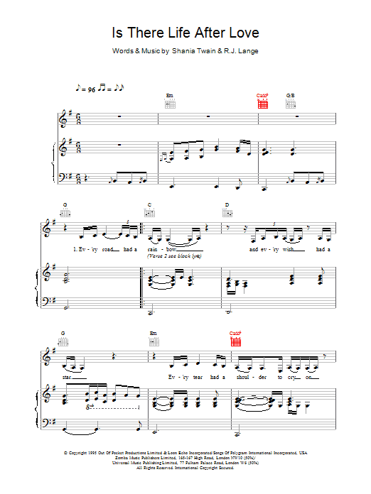 Is There Life After Love Sheet Music